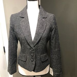 Guess Jeans dark gray and white blazer